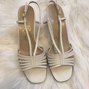 Salvatore Ferragamo White Heels